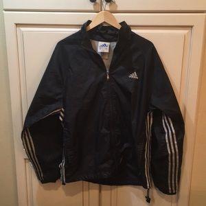 Vintage 90s black adidas windbreaker jacket s